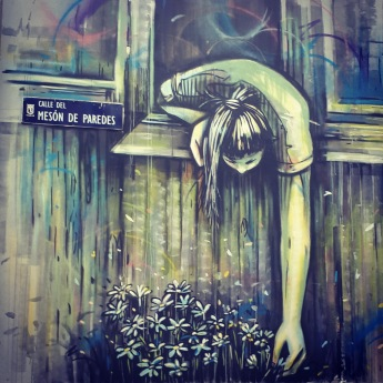 Street art: Alice Pasquini @ Lavapies, Madrid for Muros Tabacalera