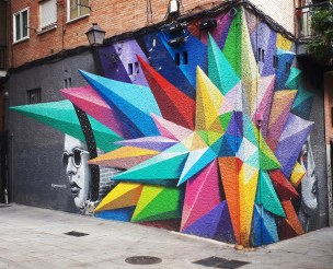 Street art: Okudart b@ Lavapies