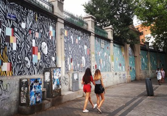 Street art: Tellas @ Lavapies, Madrid for Muros Tabacalera