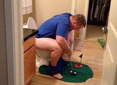 Toilette golf club
