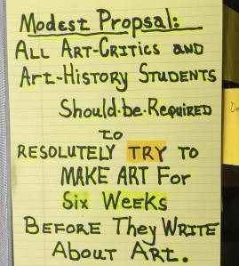 A Modest Proposal by Jerry Saltz