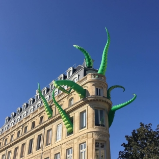 Art installation by Pete Hamilton & Filthy Luker in Bordeaux, France, for the Climax Festival