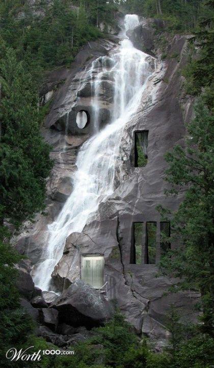 Casa sulla cascata