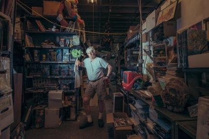 Joseph Koch at Joseph Koch's Comic Book Warehouse, Sunset Park, Brooklyn, NY, 2017