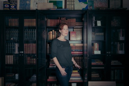 Heather O'Donnell at Honey and wax books, Gowanus, Brooklyn, 2017