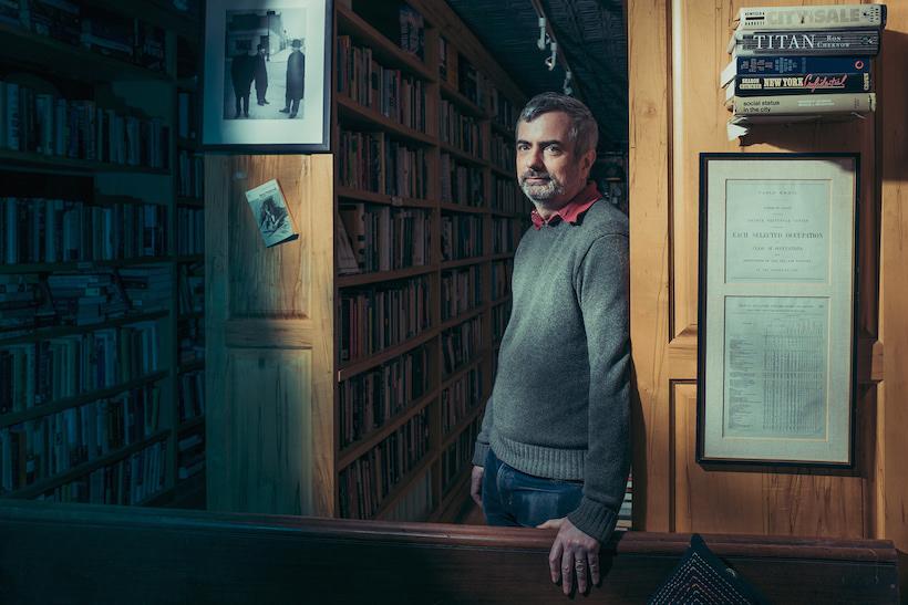 Peter Miller at Freebird bookstore, Red Hook, Brooklyn, 2017