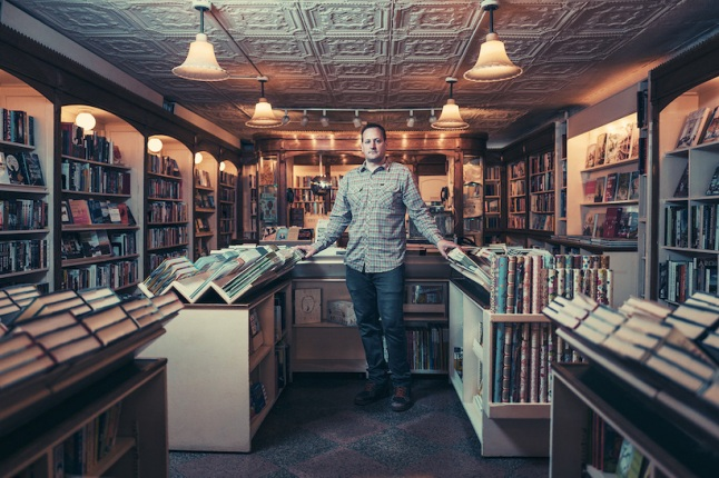 Nick Chase at The Corner Bookstore, Upper East Side, Manhattan, 2017