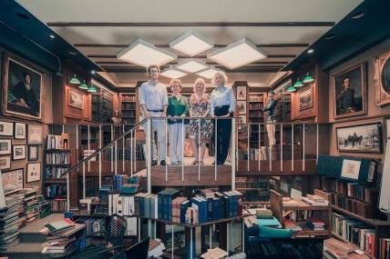 Ben Lowry, Naomi Hample, Adina Cohen and Judith Lowry at Argosy Bookstore, Upper East Side, Manhattan, 2017
