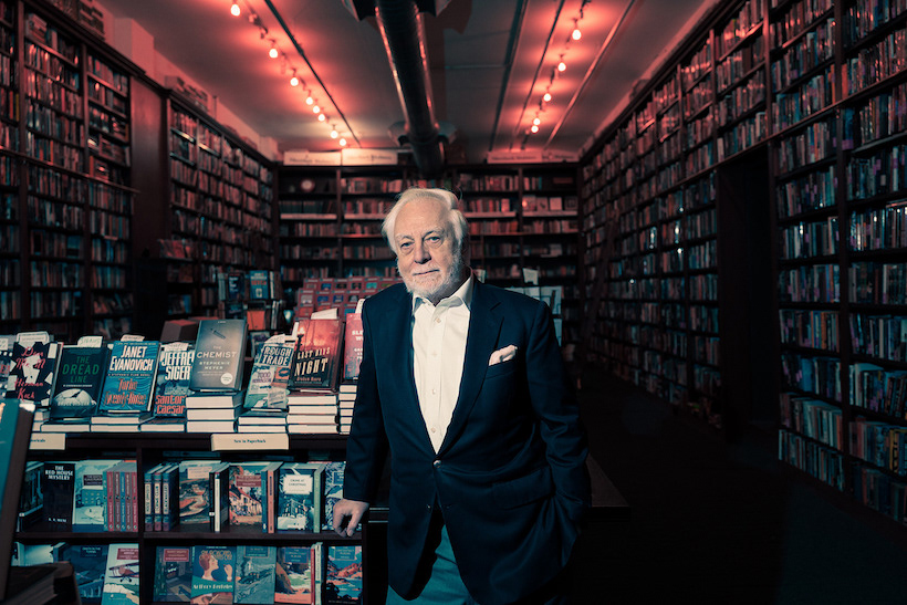 Otto Pentzler at The Mysterious Bookstore, TriBeCa, Manhattan, 2017