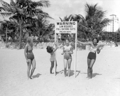 Giovani signore che scherniscono la legge, 1934, Miami Beach