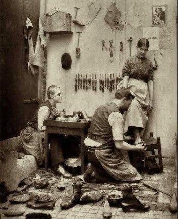Il calzolaio - fine del XIX secolo