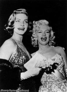 Lauren Bacall e Marilyn Monroe, 1954