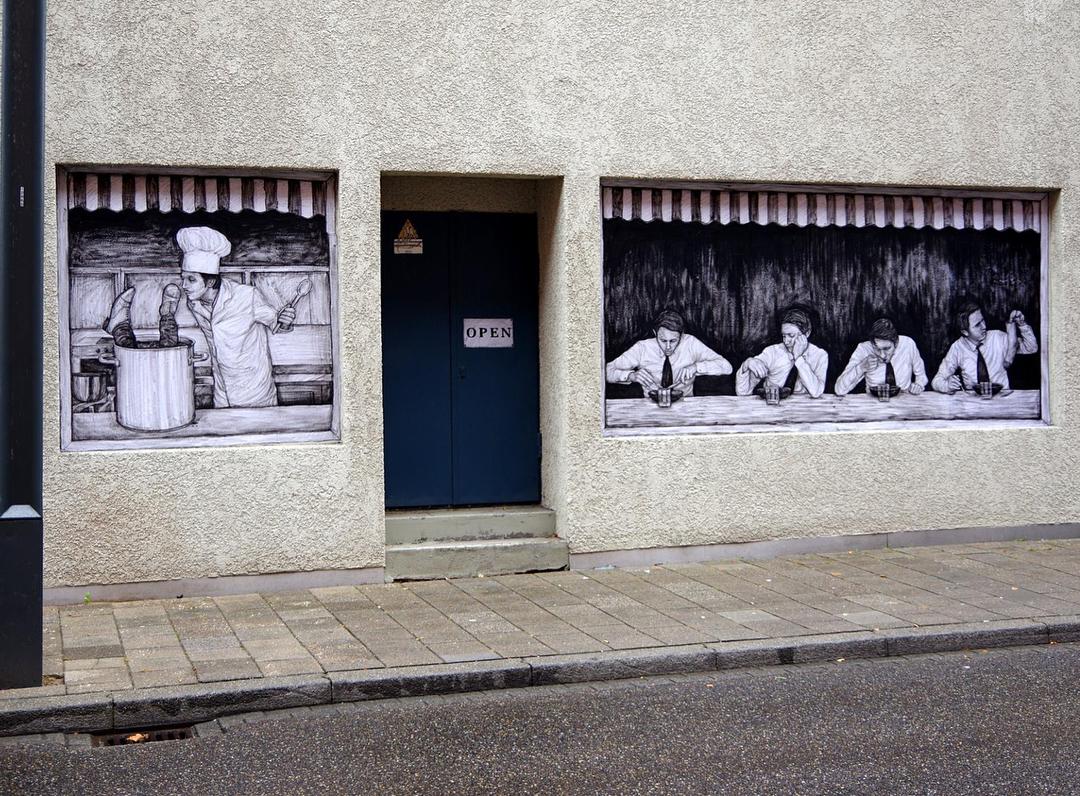 """Charognards"" by Levalet @Heerlen, Netherlands"