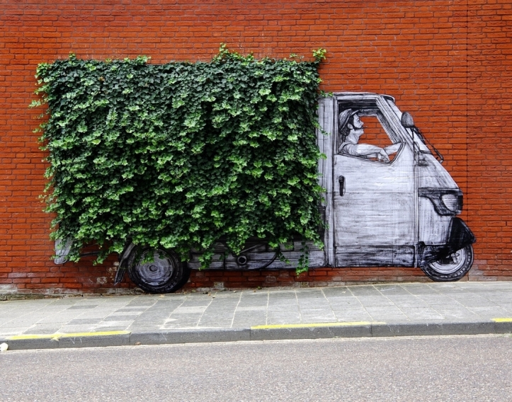 """Green washing"" by Levalet @Heerlen, Netherlands"
