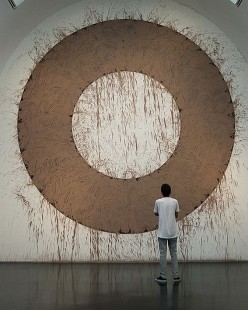Mud Circle by Richard Long