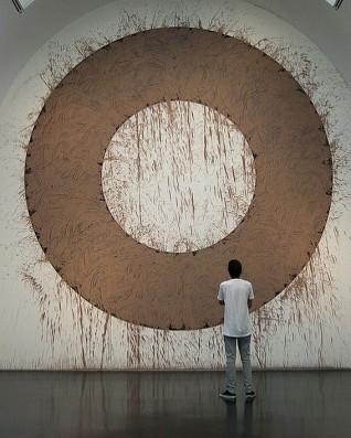 Mud Circle by Richard Long