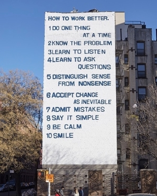"""""""How to Work Better"""" by Swiss artist duo Peter Fischli & David Weiss"""