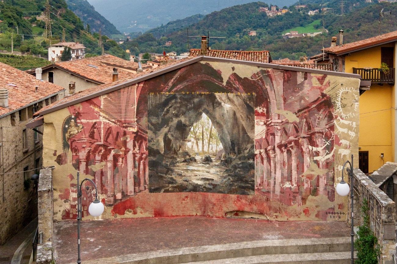 Borondo @Malegno, Italy