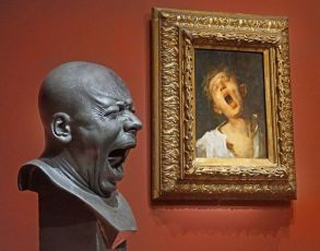 Franz Xaver Messerschmidt, Man Yawning, 1771–81. Photo by Jean-Pierre Dalbéra