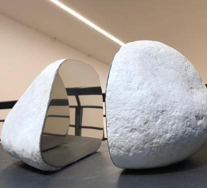 Sculpture by Ivan Barlafante, exhibition view @ Michela Rizzo Gallery, Venice