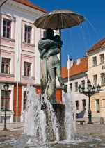 Kissing students, Tartu, Estonia.