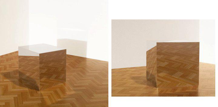 Mikael Christian Strøbek - Mirror Box (Photography mounted on plywood box), 2013