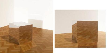 Mikael Christian Strøbek - Mirror Box (Photography mounted on plywood box), 2013