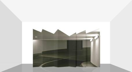 Mikael Christian Strøbek - Underground (Photography mounted on ply-wood folding screen), 2015