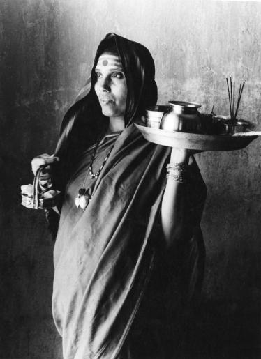 Museum number PHY.07751 T. S. Satyan, A Shaivite woman, 1976, H. 23.7 cm, W. 17.5 cm, Silver gelatin print