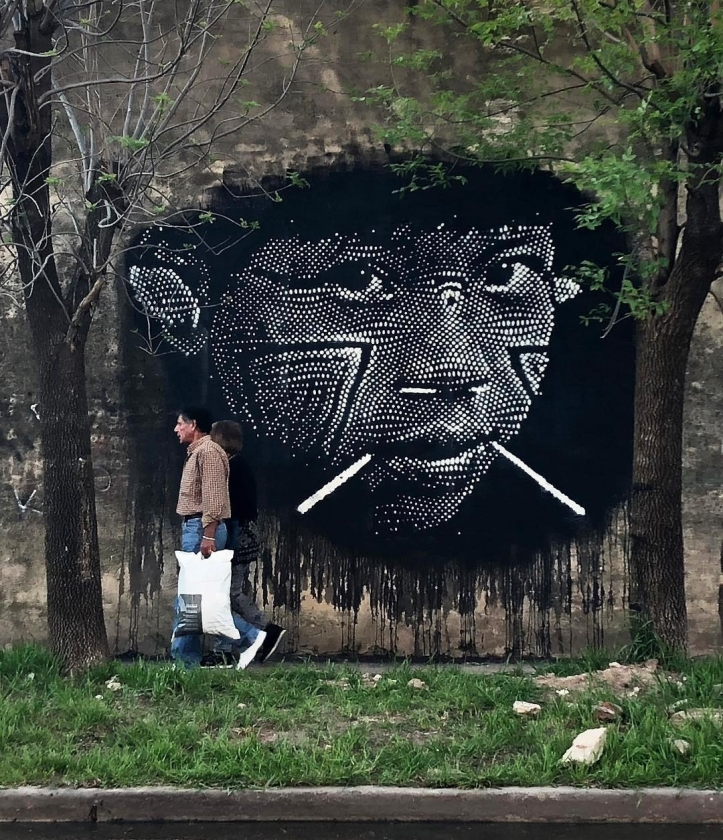 Nazza Stencil @Buenos Aires, Argentina