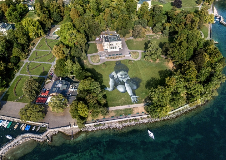 Saype @ Geneva, Switzerland