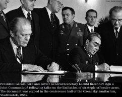 Ford firma l'accordo con Brehznev, Novembre 1974