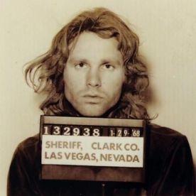 Foto segnaletica di Jim Morrison, 1968