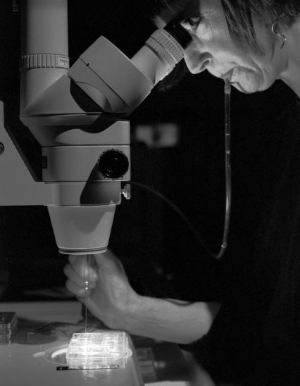 Helen Chadwick, in residence at Kings' College Assisted Conception Unit, 1996 - © Edward Woodman. All rights reserved, DACS/Artimage 2018. Photo: Edward Woodman