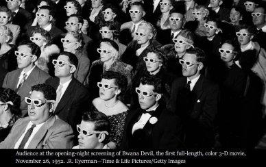 Il primo lungometraggio a colori 3D, 26 novembre 1952 Hollywood