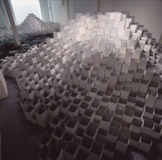 Phyllida Barlow, Deep, 1991, Museum of Installation, London. Photography by Edward Woodman