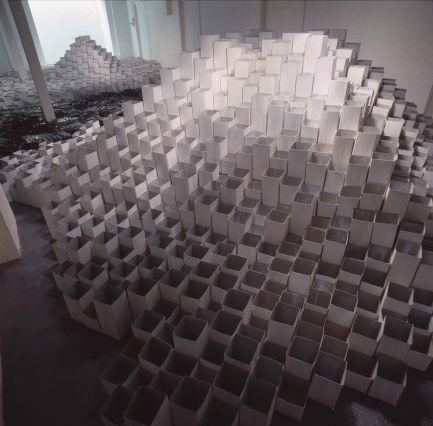 Phyllida Barlow, Deep, 1991, Museum of Installation, London. Photography by Edward Woodman