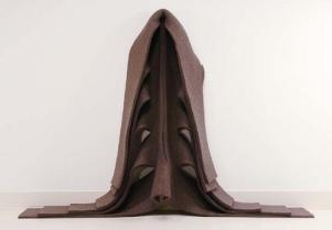 "Robert Morris (American, 1931-2018 ) Untitled, 1970 felt 72""H x 144""W 180 cm x 360 cm The Sydney and Frances Lewis Contemporary Art Fund photo: Travis Fullerton © Virginia Museum of Fine Arts"