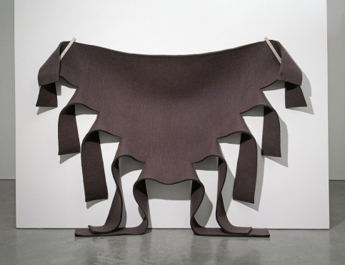 Untitled (Brown Felt) by Robert Morris