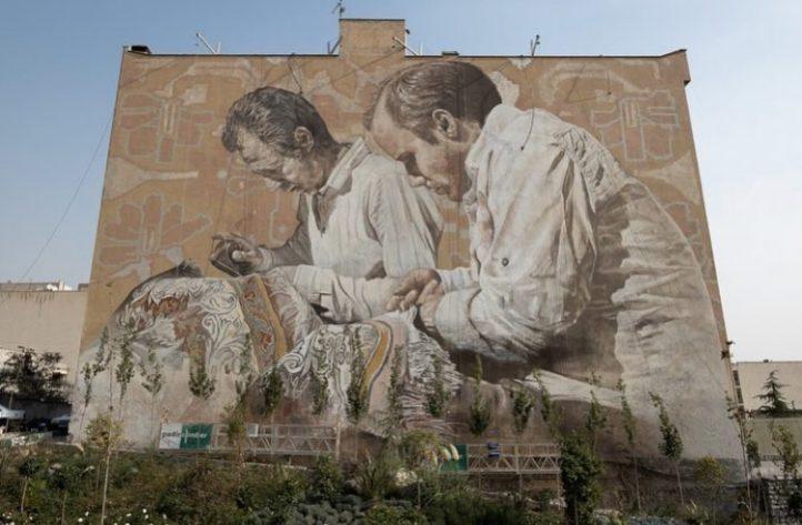 Fintan Magee & Guido Van Helten @Tehran, Iran