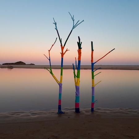 Il silenzio sogna a colori [#Laguna] - Installazione di Barbara Picci