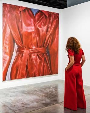 """Zone"" (oil on linen) 2018 by Issy Wood in Art Basel Miami"