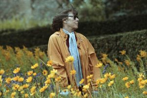 Painter Joan Mitchell in a Field (Photo by David Turnley/Corbis/VCG via Getty Images)