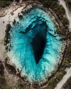 Blue hole, in Croazia