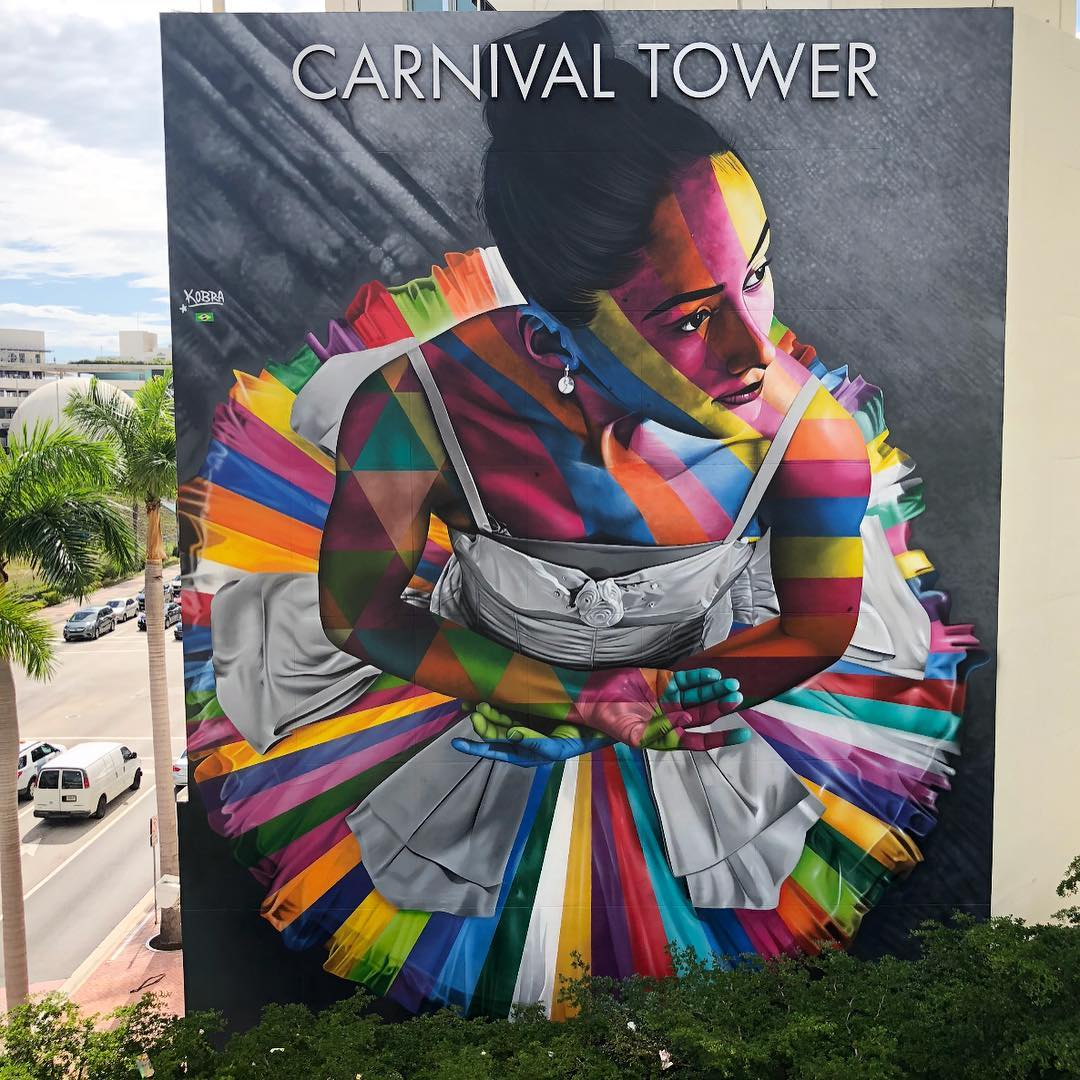 Streetart Flash – Eduardo Kobra @ Miami, USA