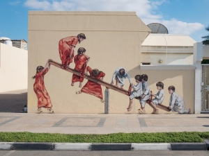 Ernest Zacharevic @Dubai, United Arab Emirates