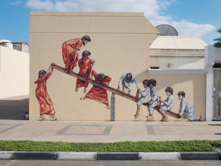 Ernest Zacharevic @Dubai, United Arab Emirates