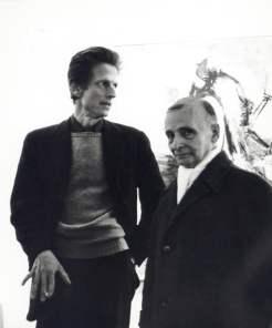 David Hare e Frederick Kiesler, 1959