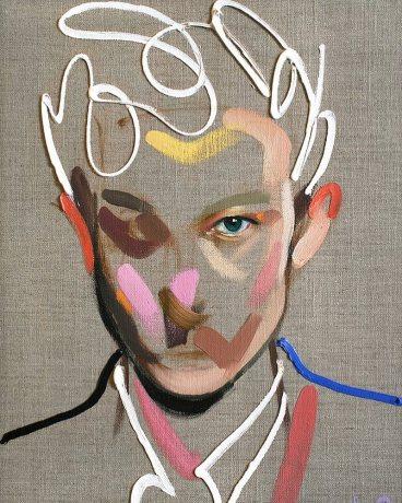 """Homme 117"" by by Loribelle Spirovski (Oil on linen 30.5x40.5cm)"