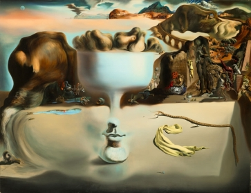 "Salvador Dalí, ""pparition of Face and Fruit Dish on a Beach (1938)"